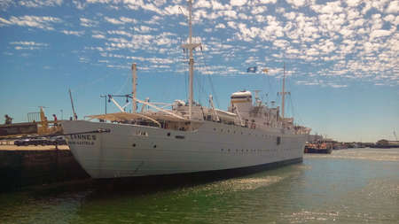 Viana do Castelo, Portugal - 2017-07-28 - Gil Eannes hospital ship docked in Viana do Castelo's port, Portugal Editorial
