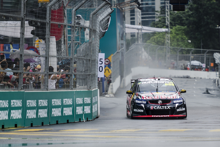 pinang: Kuala Lumpur, Malaysia - August 7, 2015: The first KL City Grand Prix on August 7, 2015, Kuala Lumpur Malaysia. The race held along the well-known streets of the capital city - Jalan P.Ramlee, Jalan Ampang, Jalan Sultan Ismail and Jalan Pinang.