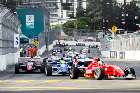 pinang: Kuala Lumpur - AUGUST 9: The first KL City Grand Prix on August 7, 2015, Kuala Lumpur Malaysia. The race held along the well-known streets of the capital city - Jalan P.Ramlee, Jalan Ampang, Jalan Sultan Ismail and Jalan Pinang. Editorial