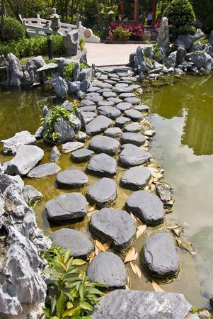 Stepping Stones Foto de archivo - 74334967