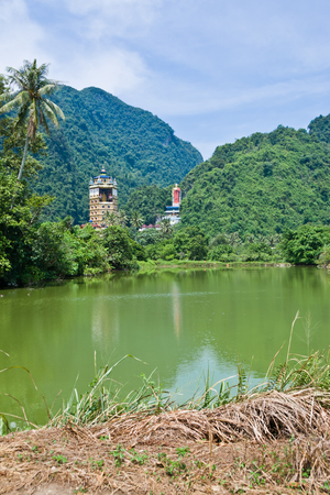 Tambun Tibetian Buddhist Temple, Perak - Tambun Tibetian Temple, also known as Jingang Jing She by the locals, is surrounded by magnificent perimeters of luscious valleys, orchards and limestone hills.