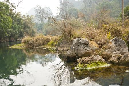 lost lake: Autumn Dry Season, China Stock Photo
