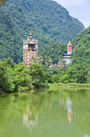Tambun Tibetian Buddhist Temple, Perak, Malaysia - Tambun Tibetian Temple, also known as Jingang Jing She by the locals, is surrounded by magnificent perimeters of luscious valleys, orchards and limestone hills. Editorial