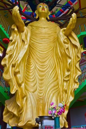 Gigantic Standing Buddha in Tambun Tibetian Buddhist Temple, Perak, Malaysia