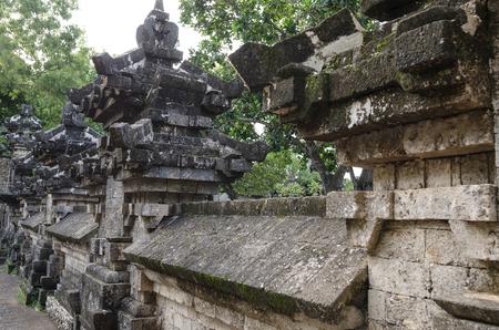 Ancient Wall in Uluwatu Temple, Bali, Indonesia