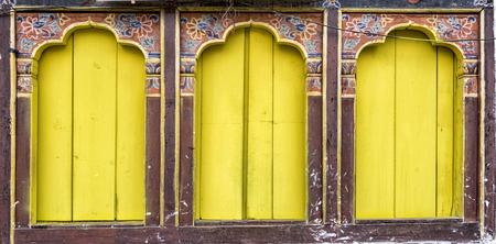 shutter: Ancient bhutanese window, Bhutan