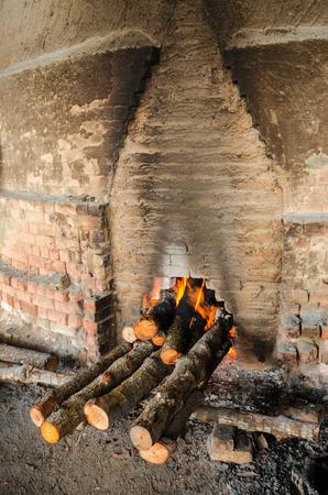 Traditional Charcoal factory, Sepetang, Malaysia