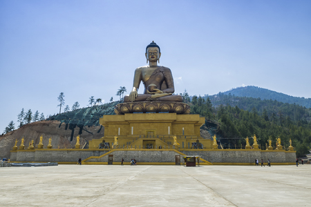 Bhuddha Dordenma, Thimphu, Bhután Foto de archivo - 84915578