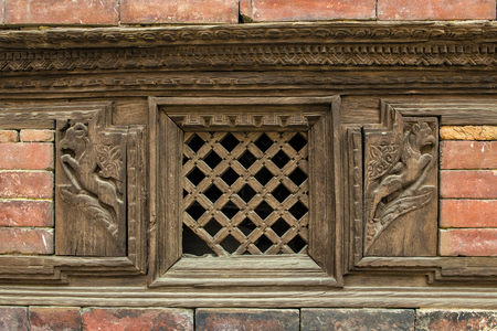 Nepalese Craft and architecture of Basantapur Durbar at Kathmandu Durbar Square, Nepal
