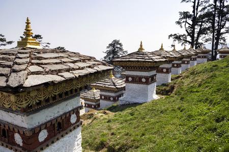 Dochula Pass, Punakha, Bhutan. Also known as the Druk Wangyal with 108 chortens