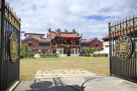 The facade of Cheah Kongsi, Georgetown, Malaysia. Cheah association was founded in 1820 and is one of the popular Chinese surname among the Penangites which started as early as 19th century.