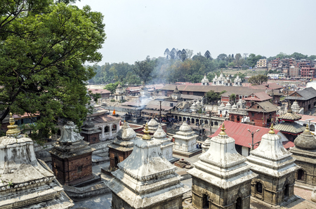 Pashupatinath Temple, Kathmandu, Nepal Stock Photo