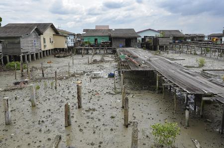An authentic Chinese fishing village at Kampung Bagan Sungai Lima, Malaysia