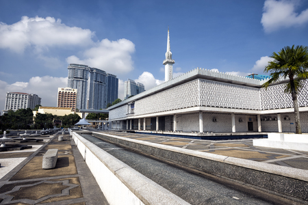 National Mosque of Malaysia (Masjid Negara), Kuala Lumpur, Malaysia. This mosque was declared open on 1965. Éditoriale