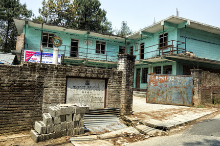 Rotary School at Nagarkot, Nepal. The school giving a future to the children of Nepal
