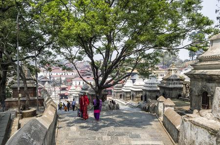 Life and activites along the holy Bagmati River at Pashupatinath Temple, Kathmandu, Nepal. Editorial
