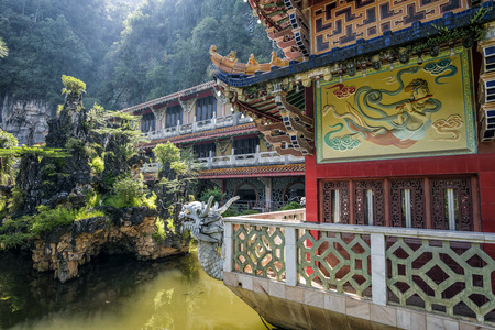 Sam Poh Tong Temple, Ipoh, Malaysia. It is the biggest cave temple in the country, and is an impressive work of art and faith, with various statues of Buddha interspersed among the stalactites and sta