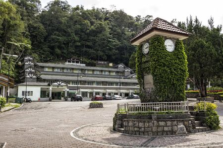 Famous landmark of Clock Tower at Fraser Hill, Malaysia. Fraser Hill is a colonial era hill station founded by Scotsman Louis James Fraser in the 1890s.