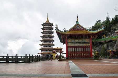 The scenic site of Chin Swee Caves Temple, Genting Highland, Malaysia.