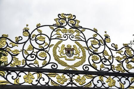 The Royal crest on the fence of the Istana Negara (National Palace) in Kuala Lumpur, Malaysia