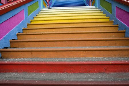 New iconic look with colorful stair at Batu Caves, Kuala Lumpur Malaysia