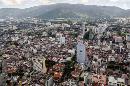 Aerial view of George Town from The Top Komtar in Penang, Malaysia. Editorial