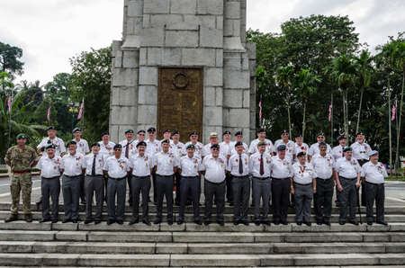 Foreign veteran soldiers gathered at Tugu Negara Malaysia to pay tribute to those who died in the World War II. Tugu Negara Malaysia a.k.a Malaysia National Monument is a monument to commemorate for those who died during World War II and the Malayan Emerg