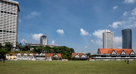 Merdeka Square. Kuala Lumpur, Malaysia. Merdeka Square is a popular tourist attraction in front of the Sultan Abdul Samad Building. Merdeka Square or Dataran Merdeka is located in Kuala Lumpur, Malaysia. It is situated in front of the Sultan Abdul Samad B