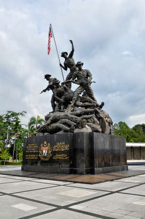 Tugu Negara Malaysia a.k.a Malaysia National Monument is a monument to commemorate for those who died during World War II and the Malayan Emergency, Kuala Lumpur, Malaysia. The monument complex was constructed in 1966 and complete on 1966 in an area 48,56