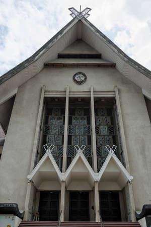 The exterior building architecture of Muzium Negara in Kuala Lumpur, Malaysia. View of the Malaysian National Museum (Muzium Negara) located in Jalan Damansara in Kuala Lumpur, Malaysia. Editorial