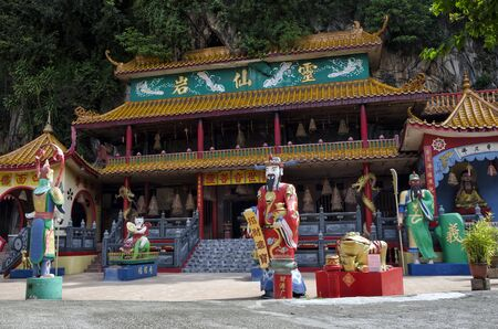 Ling Sen Tong, Temple cave, Ipoh, Malaysia. Ling Sen Tong is a beautiful Taoist cave temple located at the foot of a limestone hill in Ipoh, Perak.