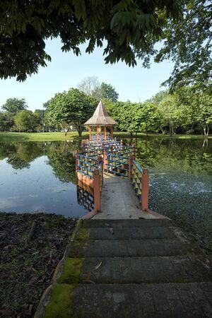 Water reflections at Taman Tasik, in Taiping, Perak, Malaysia - A charming view Taiping Lake Garden, Perak, Malaysia.
