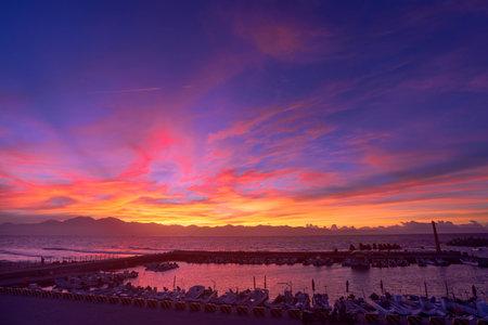 blessing: Taiwan Liouciou. Fishing blessing fishing port. Sunrise