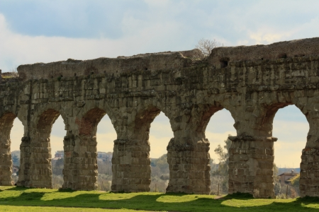 Park of the Aqueducts, Rome - Italy 版權商用圖片