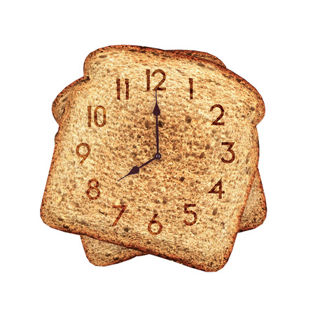 reloj tostadas photo