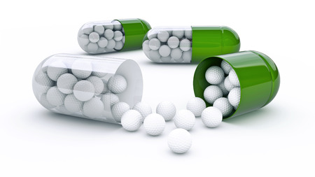 capsule with golf balls