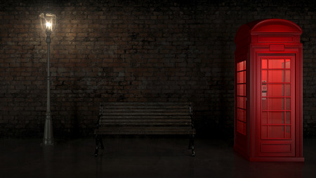 British Phone Booth in London photo