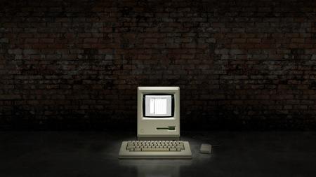 obsolete: An old vintage obsolete computer.