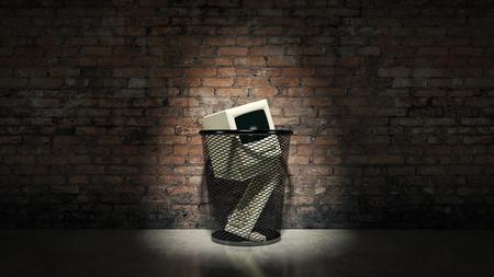 An old vintage obsolete computer.