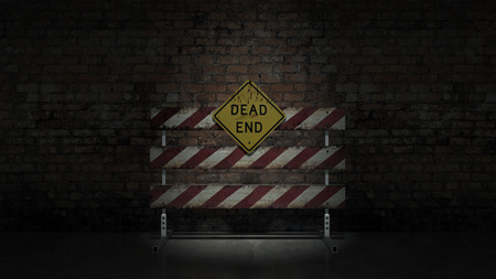 represent: Dead end sign could represent various jobs or relationships