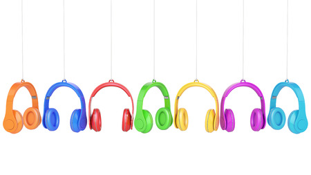 headphone colors on white background