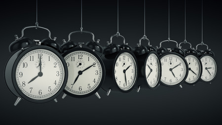 Clock alarm 3D. Time concept.