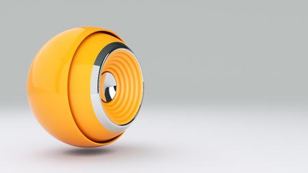 speaker icon: 3D sphere speaker