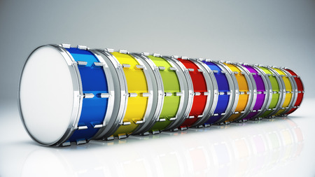 marching band: Bass drum isolated
