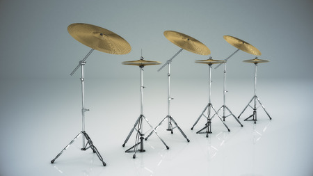 cymbal: musical instrument cymbal isolated Stock Photo