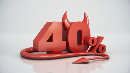 40: 40 percent red devil