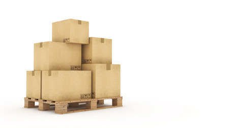 processions: cardboard boxes Stock Photo