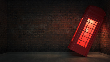 antique booth: British Phone Booth in London