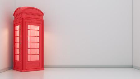 cabina telefono: Cabina de teléfono británica en Londres Foto de archivo