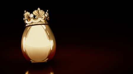 close range: golden eggs. 3D rendering